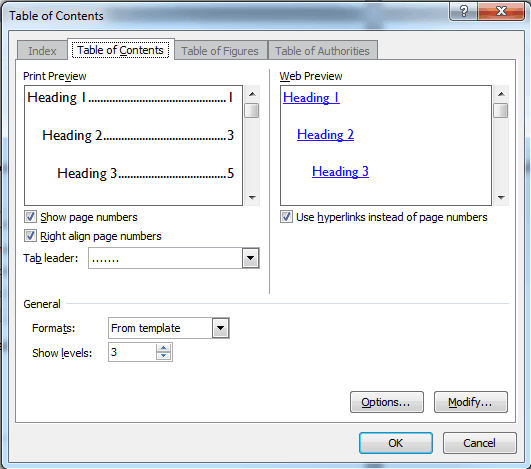 Headers, footers and table of contents - AccessibilityOz